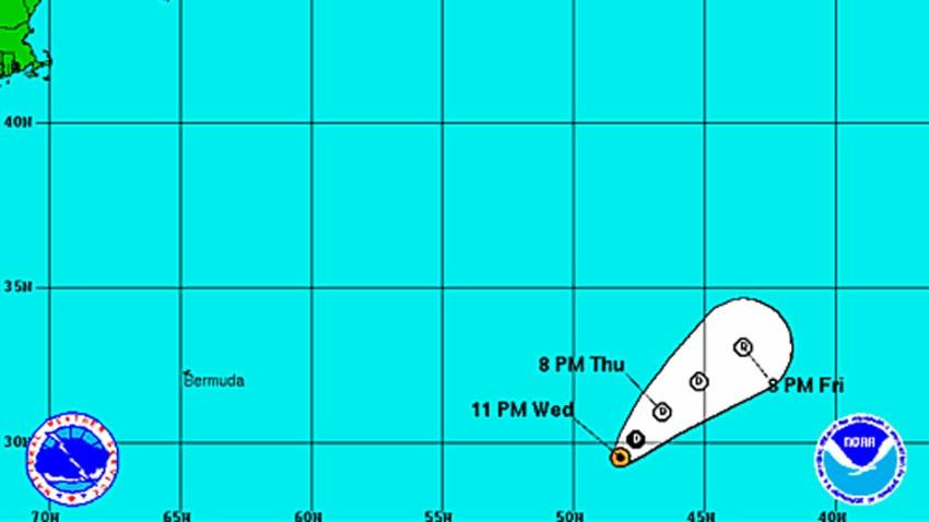 Tropical Depression Lorenzo 11 pm Wednesday