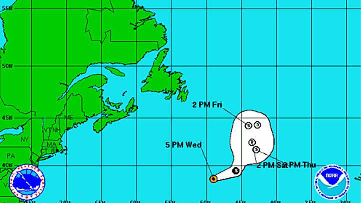 Tropical Storm Chris Wednesday 5pm