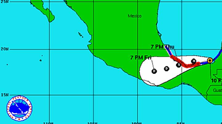 Tropical Storm Ernesto 11 pm Wednesday