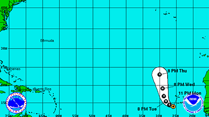 Tropical Storm Humberto 11 pm Monday
