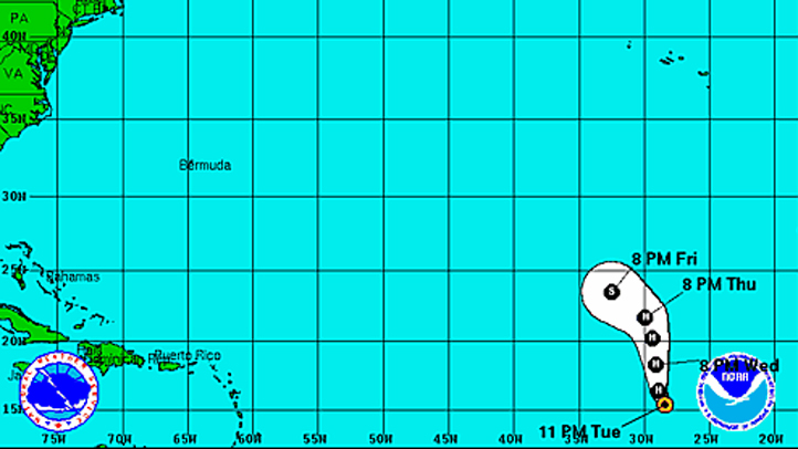 Tropical Storm Humberto 11 pm Tuesday