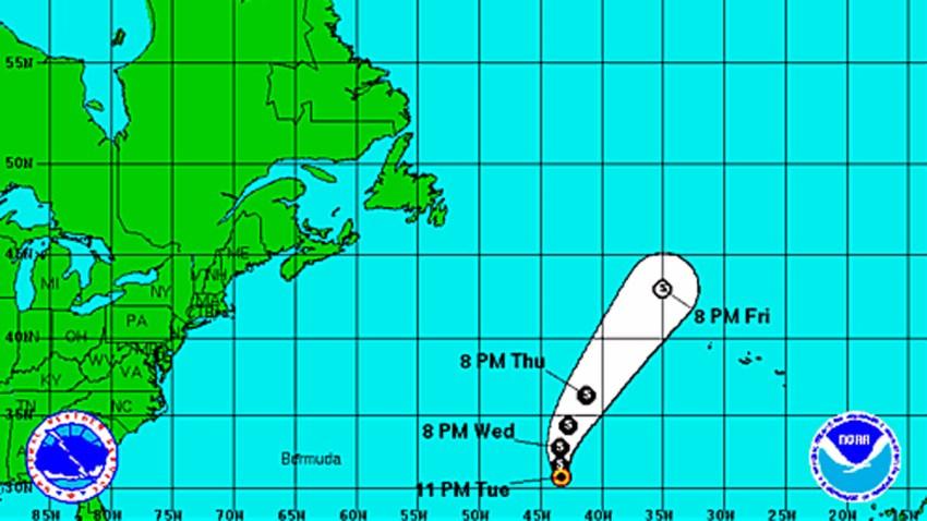 Tropical Storm Humberto 11 pm Tuesday, Sept. 17