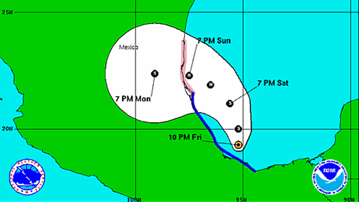 Tropical Storm Ingrid 11 pm Friday
