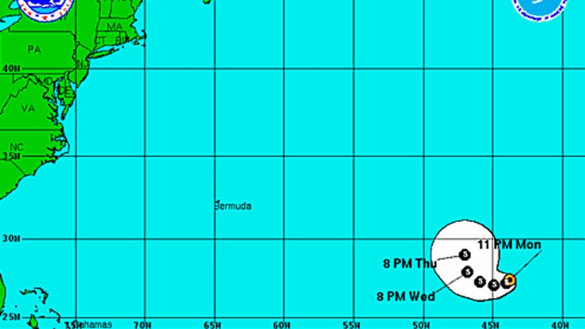 Tropical Storm Jerry 11 pm Monday