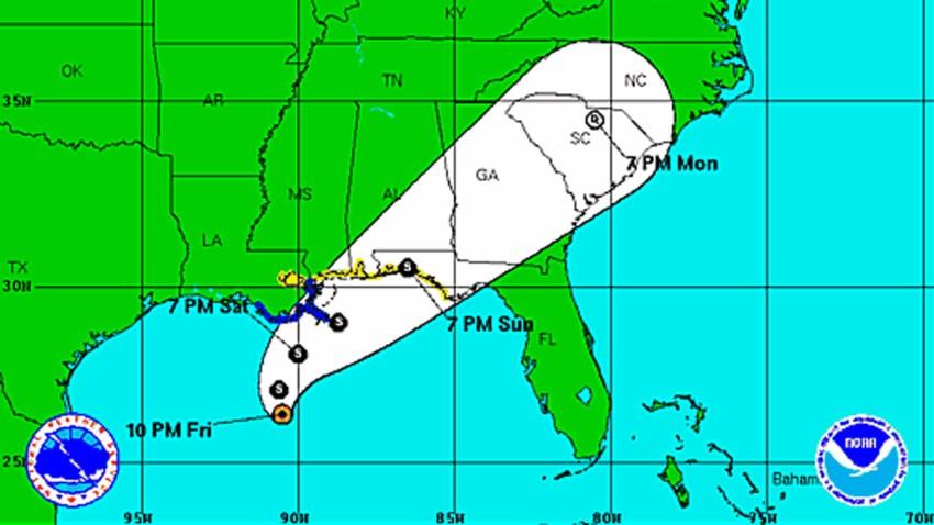 Tropical Storm Karen 11 pm Friday