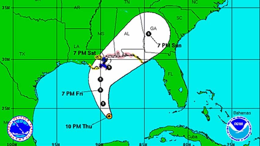Tropical Storm Karen 11 pm Thursday