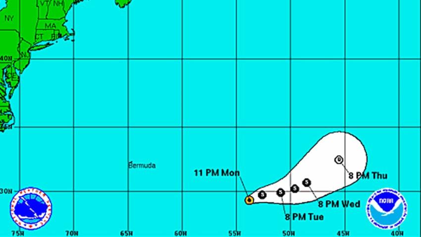 Tropical Storm Lorenzo 11 pm Monday