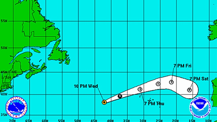 Tropical Storm Melissa 11 pm Wednesday