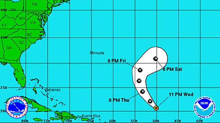 Tropical Storm Nadine Wednesday 11 pm