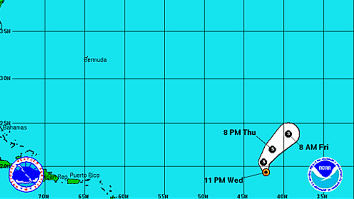 Tropical Storm Oscar 11 pm Wednesday