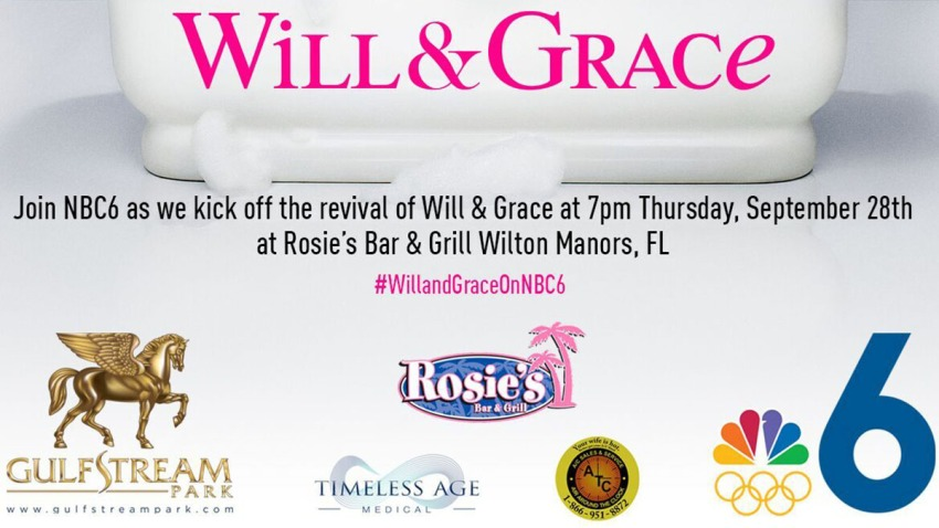 Will and Grace Watch Party Invite Cut