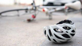 Bike Helmet on Ground