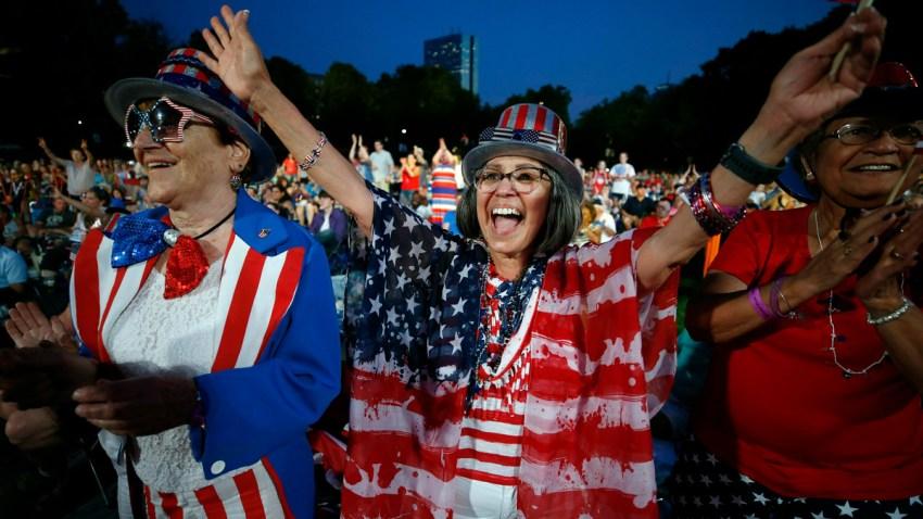 APTOPIX July Fourth Boston