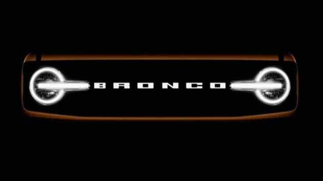 Ford recently teased this image of the front of its new Ford Bronco on social media ahead of the vehicle's debut.
