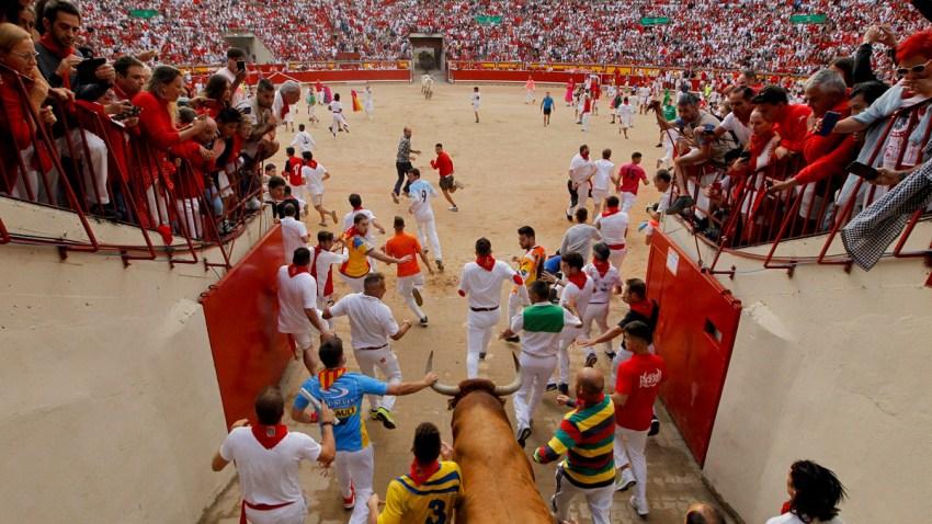APTOPIX Spain Running of the Bulls