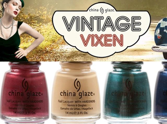 china glaze Vintage Vixen cat's meow six piece set