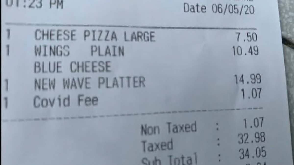 Miami Restaurant Charges Customers 'COVID-19 Fee' To Cover Pandemic-Related Costs