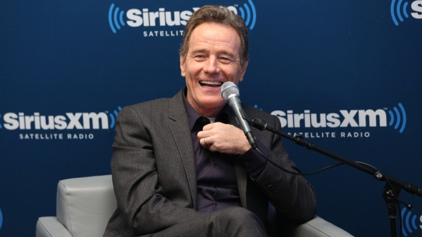 "In this July 12, 2016, file photo, actor Bryan Cranston at SiriusXM's ""Town Hall With Bryan Cranston"" at SiriusXM Studios in New York City."