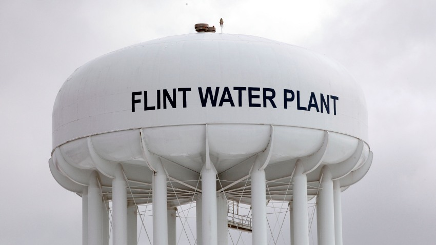 Flint Water Plant tower