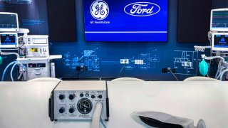 Ford, in collaboration with GE Healthcare, will leverage the design of Airon Corp.'s FDA-cleared ventilator to produce in Michigan.