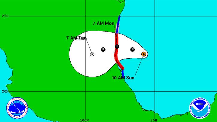hurricane ingrid sunday 11am