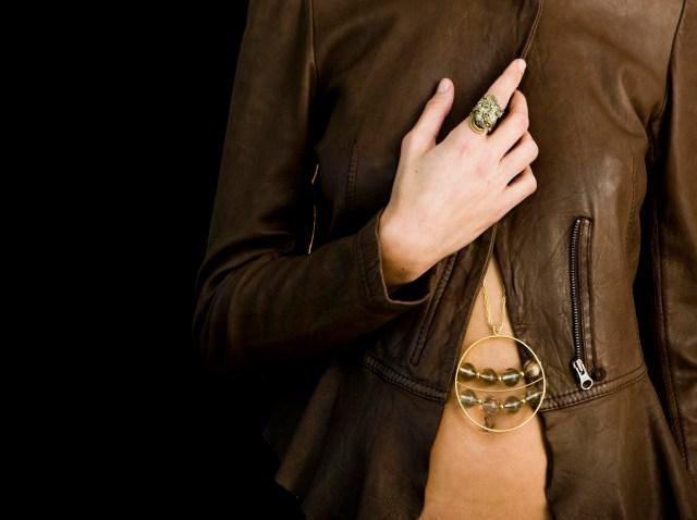leather jacket and mima
