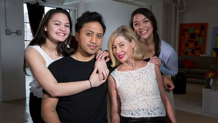 "In this file photo, ABC News' Barbara Walters interviews Mary Kay Letourneau Fualaau and husband Vili Fualaau on the eve of their 10th anniversary, sharing intimate details about their headline-making marriage. The interview aired on ""20/20"" on the ABC Television Network."