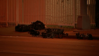 The scene after a hit-and-run driver killed a man in a motorized wheelchair in Miami