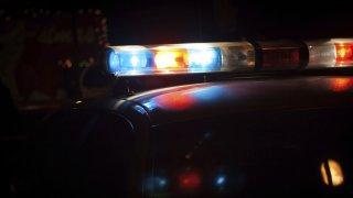 Police sirens and lights