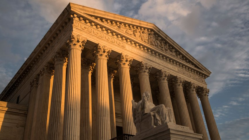 This Oct. 10, 2017, file photo shows the United States Supreme Court building in Washington, DC.