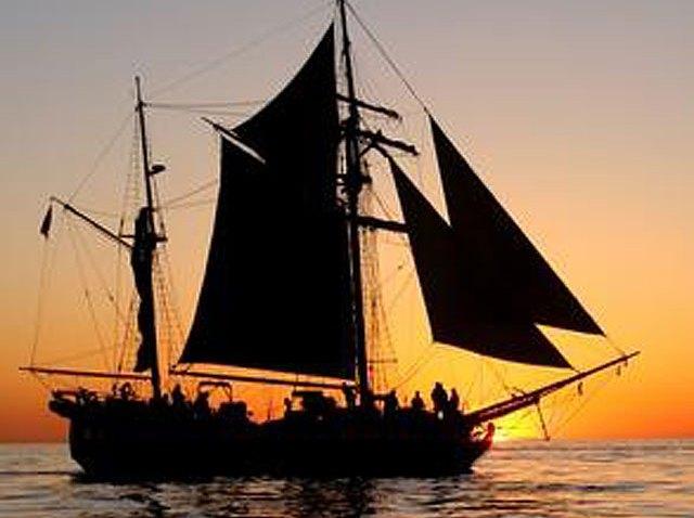 Sunset Tall Ship San Diego Ocean