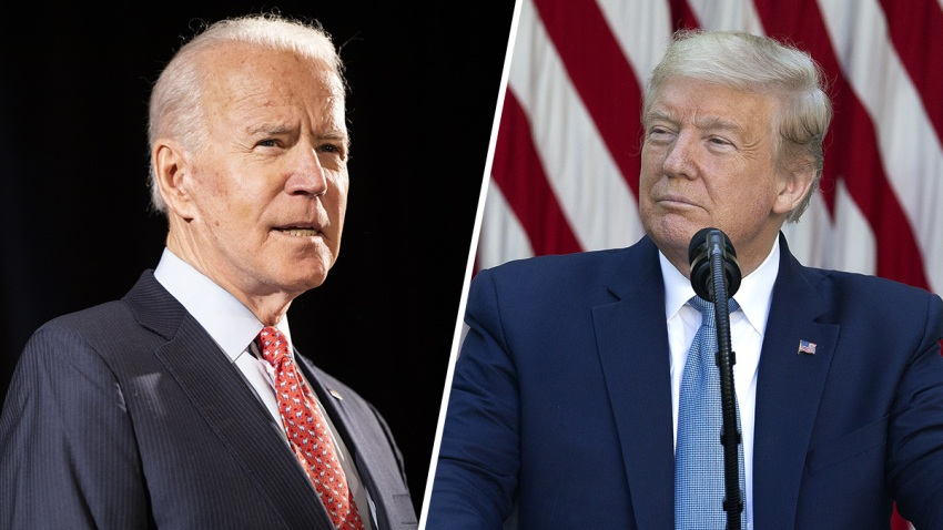 Joe Biden (Left), Donald Trump (right)