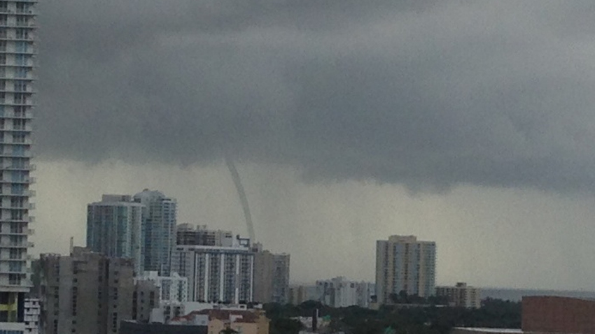 waterspout in miami