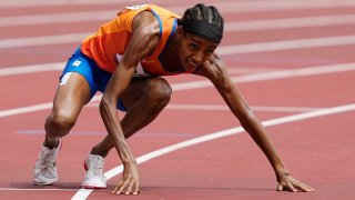 Sifan Hassan of the Netherlands stumbled and fell Monday in her heat at 1500 meters, but she got up, started running again, and provided a magical moment for the Toyko Olympics.