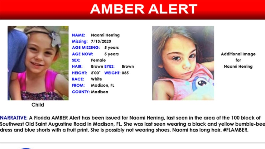 Missing Florida 5 Year Old Found Safe After Amber Alert Nbc 6 South Florida