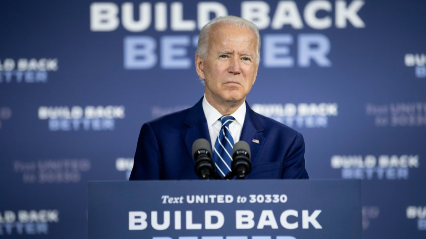 US Democratic presidential candidate Joe Biden speaks about on the third plank of his Build Back Better economic recovery plan for working families, on July 21, 2020, in New Castle, Delaware.