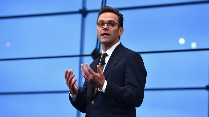 NEW YORK, NY - APRIL 19: CEO of 21st Century Fox James Murdoch speaks at National Geographic's Further Front Event at Jazz at Lincoln Center on April 19, 2017 in New York City.