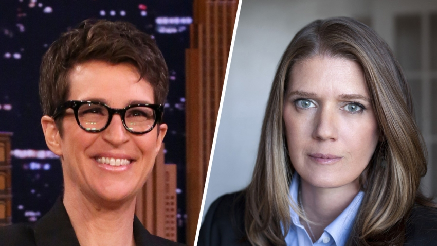 Political commentator Rachel Maddow (left) and Mary Trump, President Donald Trump's niece (right).