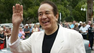 In this Oct. 17, 2004, file photo, recording artist Trini Lopez attends the Palm Springs International Film Society and its Film Festival honoring actor Kirk Douglas at the Annenberg Theatre in the Palm Springs Desert Museum in Palm Springs, California.