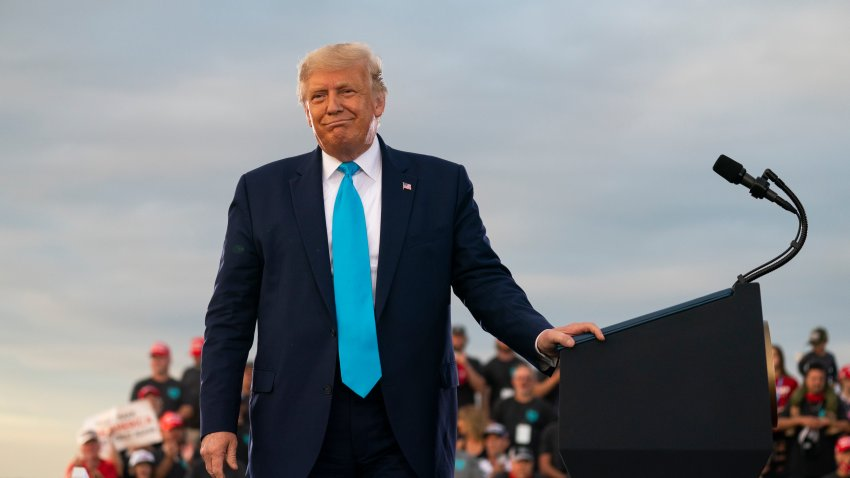 President Donald Trump speaks during a campaign rally at Arnold Palmer Regional Airport, Thursday, Sept. 3, 2020, in Latrobe, Pa.