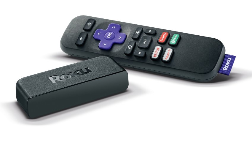 Roku Premiere streaming box and remote control.