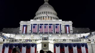 A view of the U.S. Capitol ahead of the inauguration of Donald J. Trump on January 20, 2016.