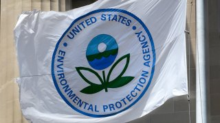A flag with the United States Environmental Protection Agency (EPA) logo.