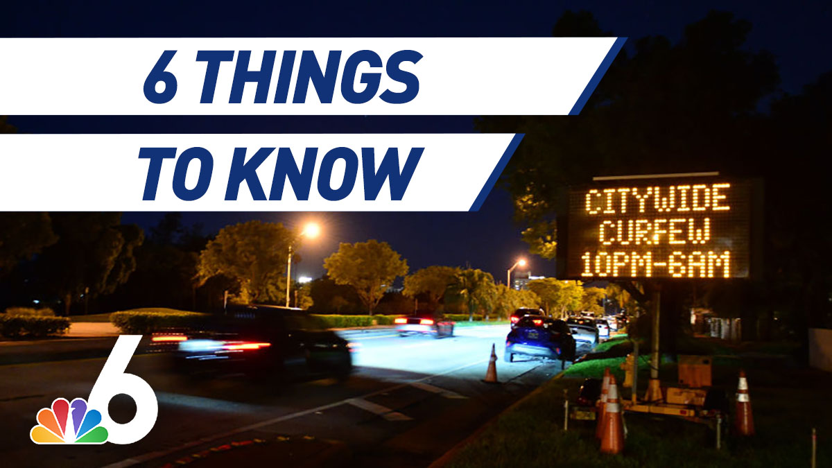 6 Things to Know – Curfew Back in Miami-Dade During Appeal, Safety Promised During Early Voting