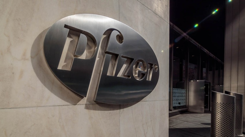 Pfizer Pharmaceuticals World Headquarters building in New York City, March 3, 2019.