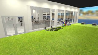 Gold's Gym outdoor turf