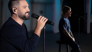 """Dan + Shay and Justin Bieber perform their hit """"10,000 Hours"""" for the 54th Annual CMA Awards on Wednesday, Nov. 11, 2020."""