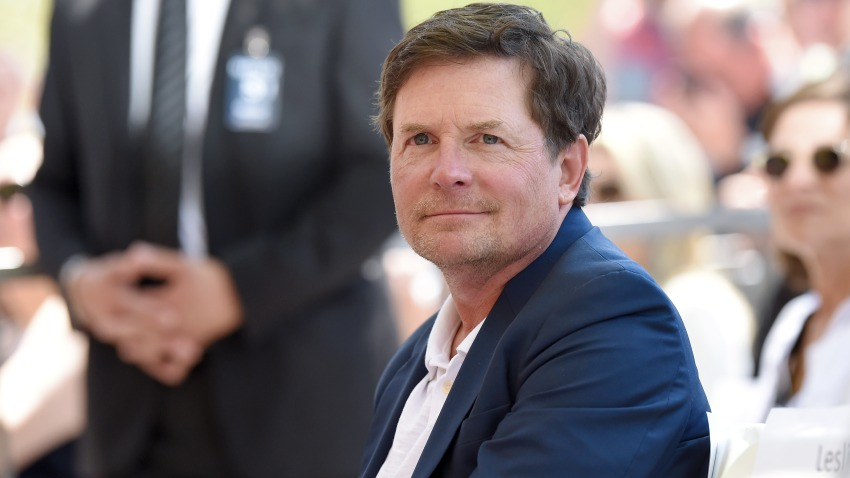 In this May 1, 2015, file photo, actor Michael J. Fox attends the ceremony honoring Julianna Margulies with a star on the Hollywood Walk of Fame in Hollywood, California.