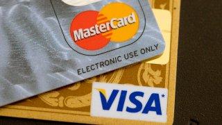Visa and Mastercard credit cards.