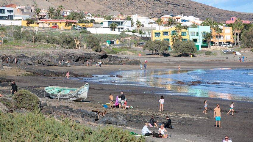 Migrants Boat At El Medano